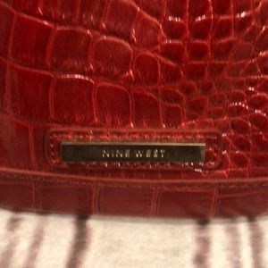 Nine West Bags - Red patent leather clutch. Nine West